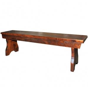 Rustic Flat Top Amish Bench