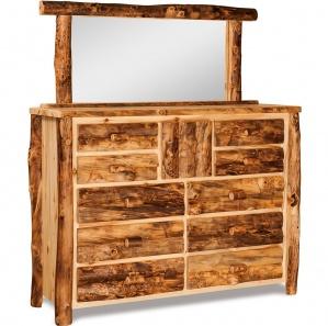 Elkhorn 10 Drawer Amish Dresser with Mirror Option