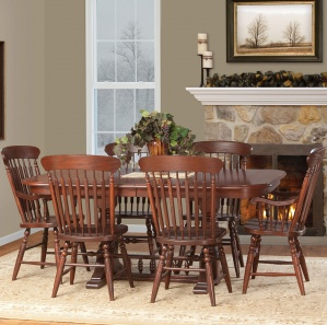 Revere Amish Dining Table Set