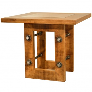 Brick Maker Amish End Table