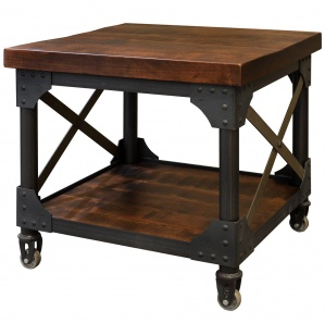 Iron Works Amish End Table
