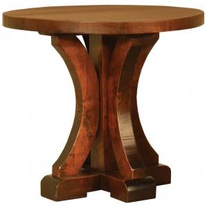 Rustic Carlisle Trestle Amish End Table