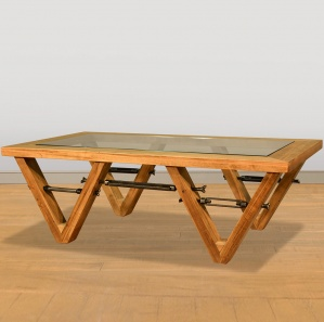 V Truss Amish Coffee Table