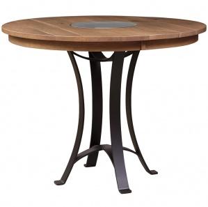 Elementals Round Amish Pub Table