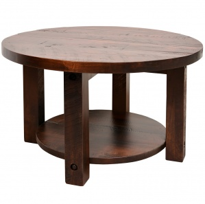 Adirondack Amish Round Coffee Table