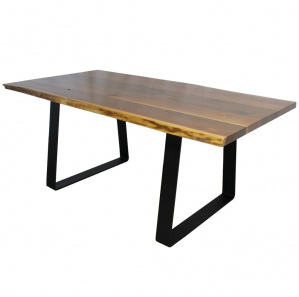 Maxim Walnut Amish Dining Table with Metal Base