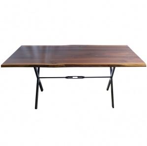 Maxim Walnut Amish Dining Table with Trestle Base