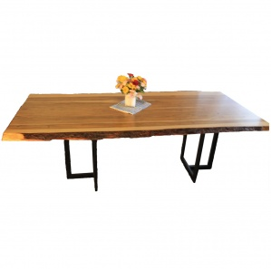Maxim Ambrosia Maple Dining Table with Metal Base