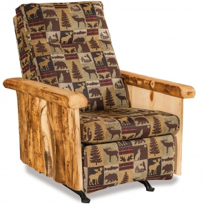 Elkhorn Amish Rocking Chair Recliner