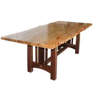 Boulder Creek Walnut Top Dining Table