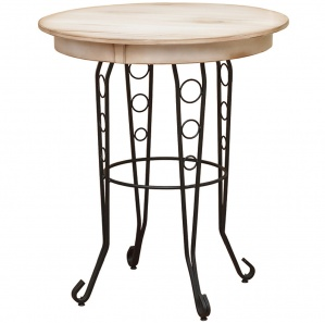 Mirabella Wrought Iron Pub Table  sc 1 st  Cabinfield & Mirabella Wrought Iron Pub Set - Amish Bar Stools | Cabinfield Fine ...