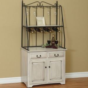 Cherry Hill  Amish Cabinet with Wine Rack