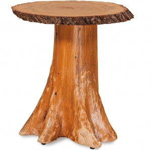 Elkhorn Tree Stump Amish End Table