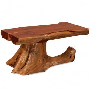 Elkhorn Half Log Amish Coffee Table
