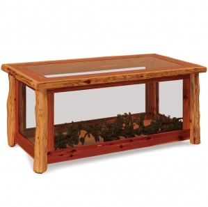 Elkhorn Amish Coffee Table Display Case