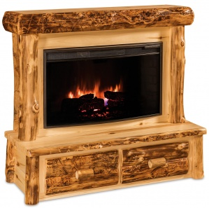 Elkhorn Amish Fireplace with Mantle