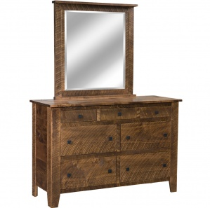 Bakersville Amish Dresser with Mirror Option