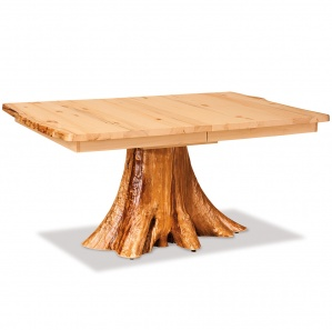 Elkhorn Leaf Amish Table with Stump