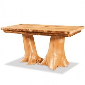 Elkhorn Double Stump Amish Table