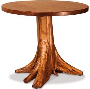 Elkhorn Round Stump Amish Table