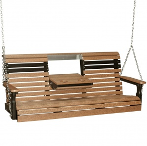Rollback Poly Amish Porch Swing (5')