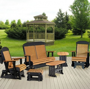Garden Glen Poly Amish Glider Set