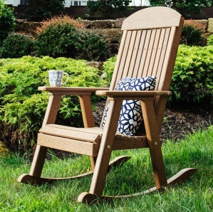 Classic Highback Poly Amish Rocking Chair