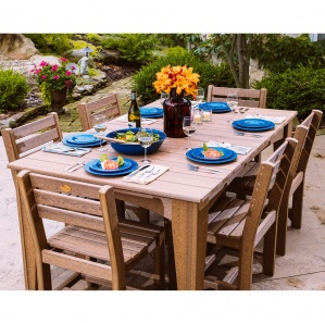 Island Rectangular Outdoor Table and Chairs