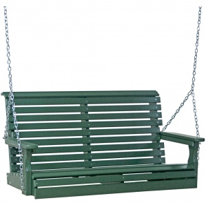 Rollback Poly Amish Porch Swing (4')