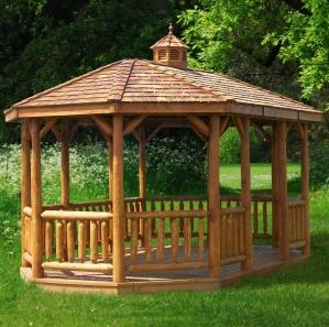 Cabinfield  Oval Cedar Log Gazebo Kit