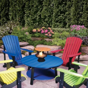 Deluxe Poly Amish Patio Table Set