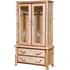 Elkhorn Deluxe Amish Gun Cabinet
