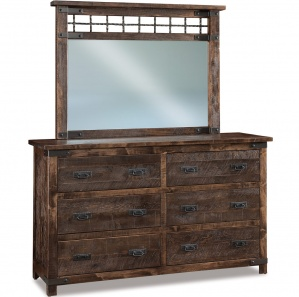 Ironwood Amish Dresser with Mirror Option