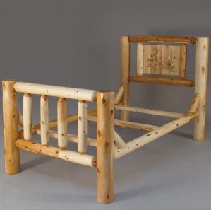 Cedar Grove Amish Bed with Art