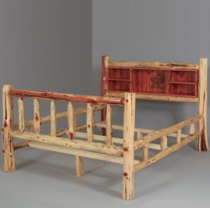 Red Cedar Amish Bookcase Bed