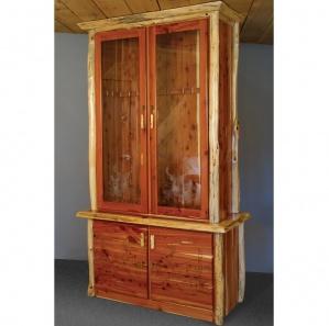 Red Cedar Amish Gun Cabinet