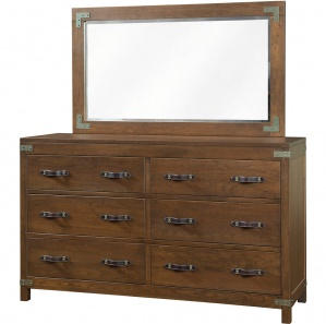 Williamsport Amish Dresser with Mirror Option