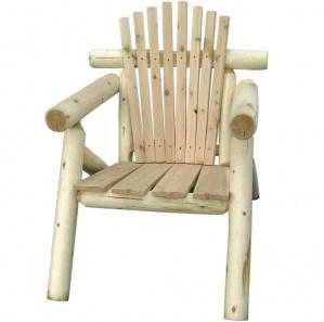 White Cedar Log Amish Chair Set