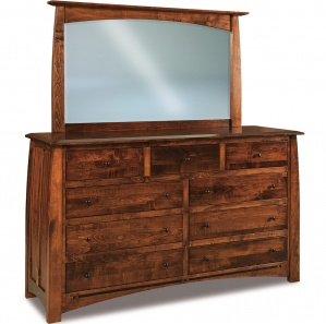 Boulder Creek Wide Amish Dresser with Mirror Option