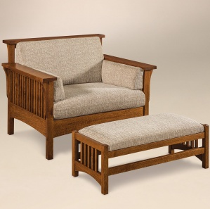 Rutherford Slat Amish Chair with Footstool Option