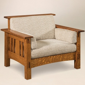 McCoy Amish Chair with Footstool Option
