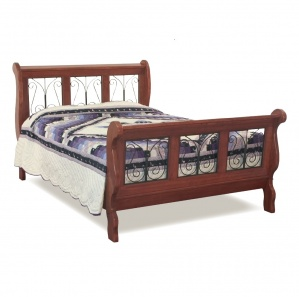 Classic Wrought Iron Sleigh Amish Bed