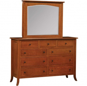 Avedon 9 Drawer Amish Dresser with Optional Jewelry Mirror
