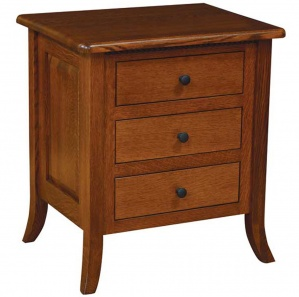 Avedon 3 Drawer Amish Nightstand