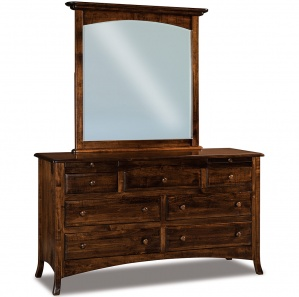 Summerfield Amish Dresser with Arched Drawer and Mirror Option