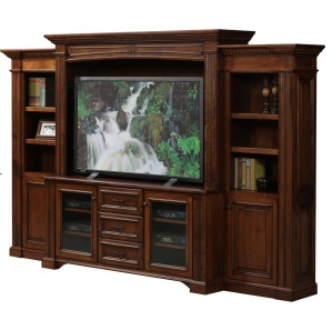 Lincoln Amish Entertainment Center with Drawers