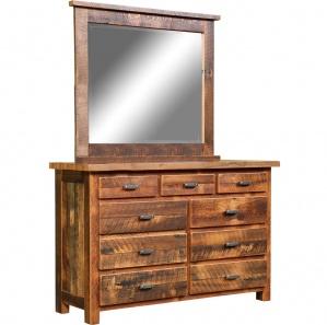 Chevron Amish Dresser with Mirror Option
