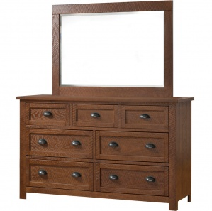 Timber Lake Amish Dresser with Mirror Option