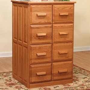 Pomeroy Double Wood File Amish Cabinet