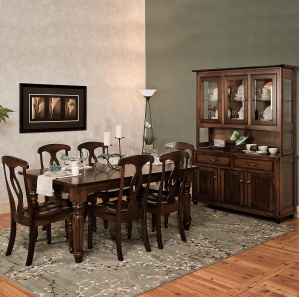 Dining Table Chairs Sideboard Amish Large Table Wooden Dining